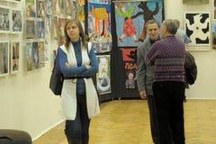 Contemporary art exhibition artists animalists Stock Image