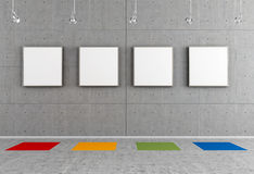 Contemporary art gallery Stock Photo