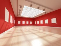Contemporary art gallery Stock Photos