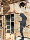 Contemporary art in a ghost town Stock Image