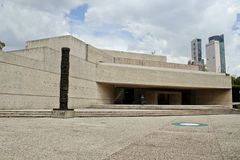 Contemporary art museum at Mexico city. MEXICO CITY,MEXICO-SEPTEMBER 20 ,2016: Front view of the Museum of contemporary art `Rufino Tamayo` at mexico city Stock Photo