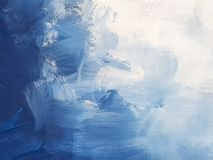 Abstract Blue Art Painting Background. royalty free stock image