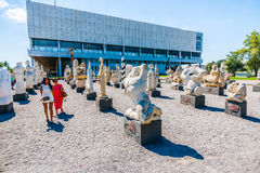 Contemporary art sculptures in Museon park of Moscow Stock Image