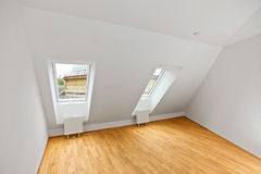 Contemporary attic flat Stock Images