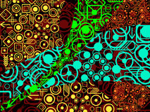 Contemporary background. Made up with patterns and shapes Stock Photography