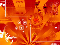 Contemporary background. Illustration wih lots of different elements Stock Photos
