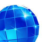 Contemporary background with plastic pixel sphere Stock Image