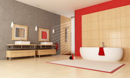 Contemporary bathroom Royalty Free Stock Images