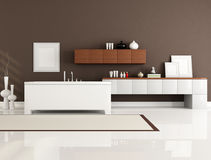 Contemporary bathroom Stock Images