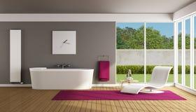 Contemporary bathroom Stock Photography