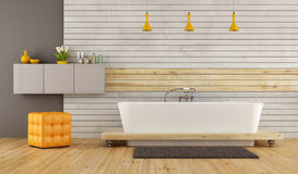 Contemporary bathroom with bathtub Royalty Free Stock Photography