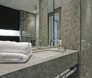 Contemporary bathroom detail Royalty Free Stock Photos