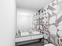 Bathroom interior render Royalty Free Stock Images