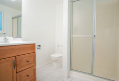 Contemporary bathroom with large shower Stock Photo