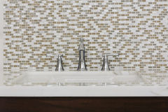 Contemporary bathroom sink and fixture Royalty Free Stock Photo