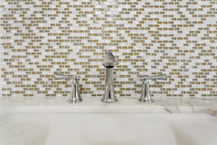 Contemporary bathroom sink and fixture Stock Photos
