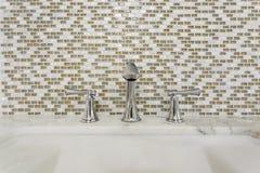 Contemporary bathroom sink and fixture stock photos