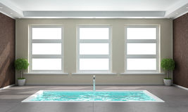 Contemporary bathroom with sunken bath Royalty Free Stock Photos
