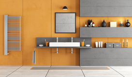Contemporary bathroom with washbasin Royalty Free Stock Image