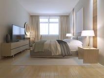 Contemporary bedroom design Royalty Free Stock Photos