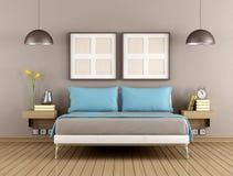 Contemporary bedroom Stock Photos