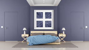 Contemporary bedroom Royalty Free Stock Image