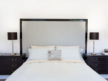 Contemporary bedroom or hotel suite Stock Images