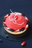 Contemporary Berry Mousse Cake Stock Photos