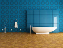 Contemporary blue bathroom Stock Photo