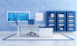 Contemporary blue office Royalty Free Stock Photos