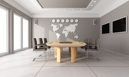 Contemporary  board room Royalty Free Stock Image