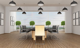 Contemporary boardroom Royalty Free Stock Images