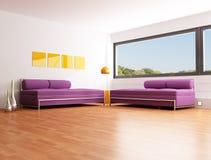 Contemporary bright lounge Stock Photo