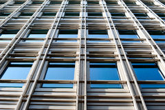 Contemporary building. This is an image of a contemporary building in central London with the blue sky reflecting in its shiny clean windows stock images