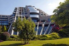 Contemporary building of luxury resort hotel and garden in Belek Stock Image