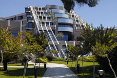 Contemporary building of luxury resort hotel and garden in Belek Stock Photo