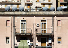 Contemporary buildings facade, in italy Royalty Free Stock Images