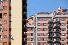 Contemporary buildings, italy. A detailed view of some contemporary buildings, landscape cut stock photo