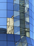 Contemporary business building  with mirror windows and reflecti Royalty Free Stock Image