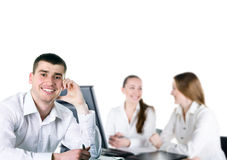 Contemporary business people Stock Image
