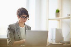 Contemporary Businesswoman Working with Laptop Royalty Free Stock Images