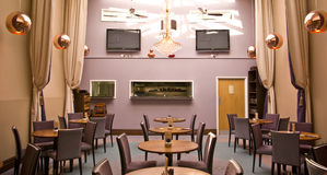 Contemporary cafe. Trendy cafe restaurant with funky decor in bristol uk Stock Photo