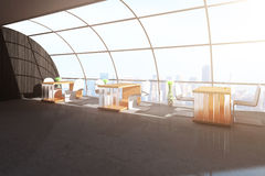 Contemporary cafe interior Stock Photo