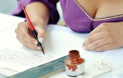 Contemporary calligraphy Royalty Free Stock Photography