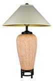 Contemporary Ceramic Rust Colored Table Lamp Royalty Free Stock Images