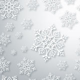 Contemporary Christmas snowflakes pattern Royalty Free Stock Photos