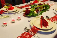 Contemporary Christmas table Royalty Free Stock Photo