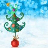 Contemporary Christmas tree Stock Photos