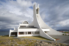 Contemporary church building Royalty Free Stock Images