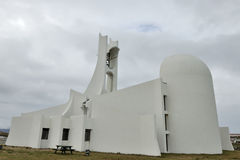 Contemporary church building, Iceland Stock Photos